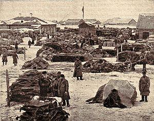 Irbit Fair - The fur market in Irbit (1900)