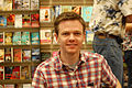 Isaac Stewart, map illustrator, at book signing for Brandon Sanderson August 2007.jpg