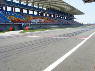 Intercity Istanbul Park - A view of the start-finish line.