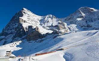 Jungfrau Railway - Image: JB B Dhe 4 8 Kleine Scheidegg Eigergletscher