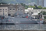 JMSDF YDT-04 left rear view at Kure Naval Base May 6, 2018 02.jpg