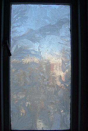 Jack Frost - Window with frost patterns