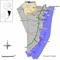 Map of Jackson Township in Ocean County