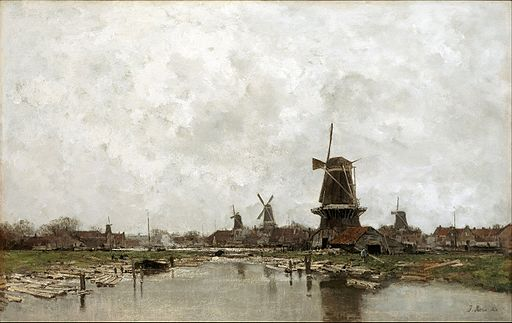 Jacob Maris - The Five Windmills - Google Art Project