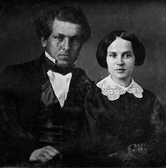 Lucretia Garfield - This photo of James A. Garfield and Lucretia Rudolph was taken around the time of their engagement. (Western Reserve Historical Society)