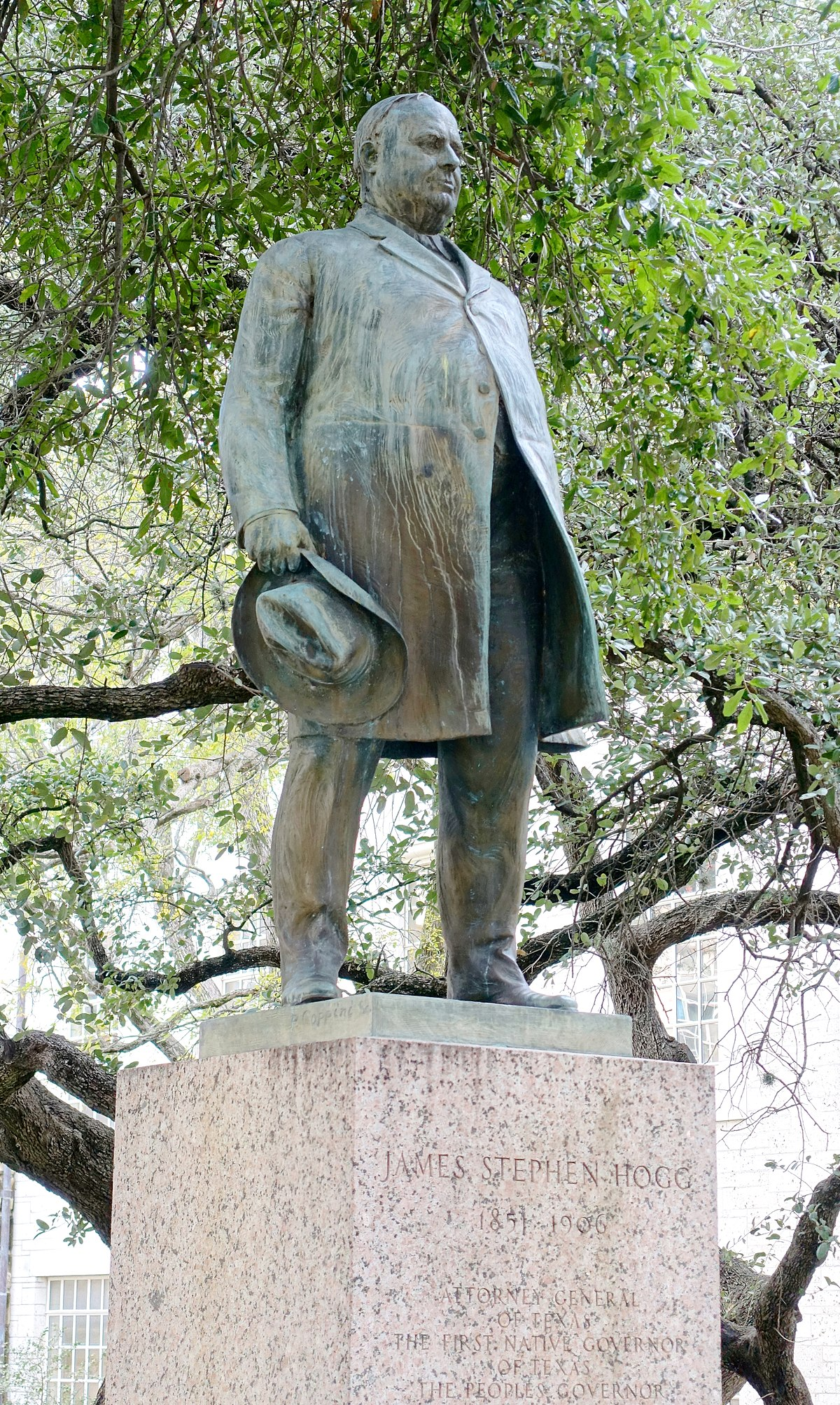 Statue Of Jim Hogg Wikipedia
