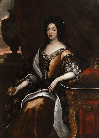 Marie Casimire Louise de La Grange d'Arquien - Image: Jan Tricius Portrait of Maria Casimire (ca. 1676) Google Art Project