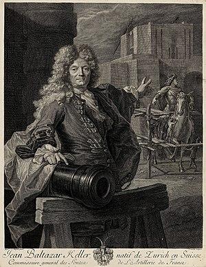 """Jean-Jacques Keller - Jean-Balthazar Keller (1638-1702), """"Commissaire des fontes de l'Artillerie Royale""""."""