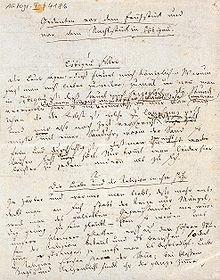 Gedanken vor dem Frühstück und vor dem Nachtstück in Löbigau, 1819 (Quelle: Wikimedia)