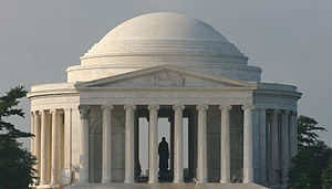 American patriotism - Jefferson Memorial in Washington, D.C..