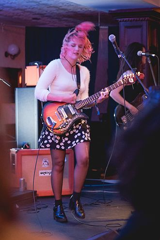 Bleached (band) - Jennifer Clavin performing with the band in May 2016