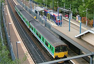 Interchange station - A tram/train interchange in Birmingham, United Kingdom.