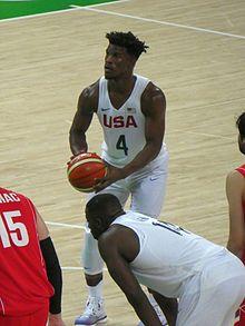 Jimmy Butler con gli Stati Uniti alle olimpiadi di Rio de Janeiro 2016.