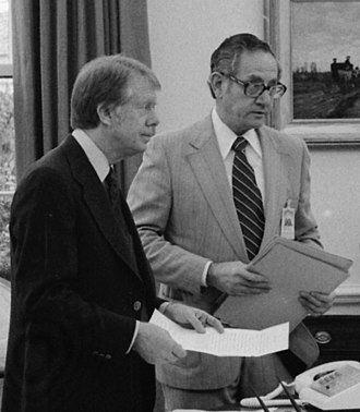 Robert Lipshutz - Lipshutz (right) with President Carter in 1977