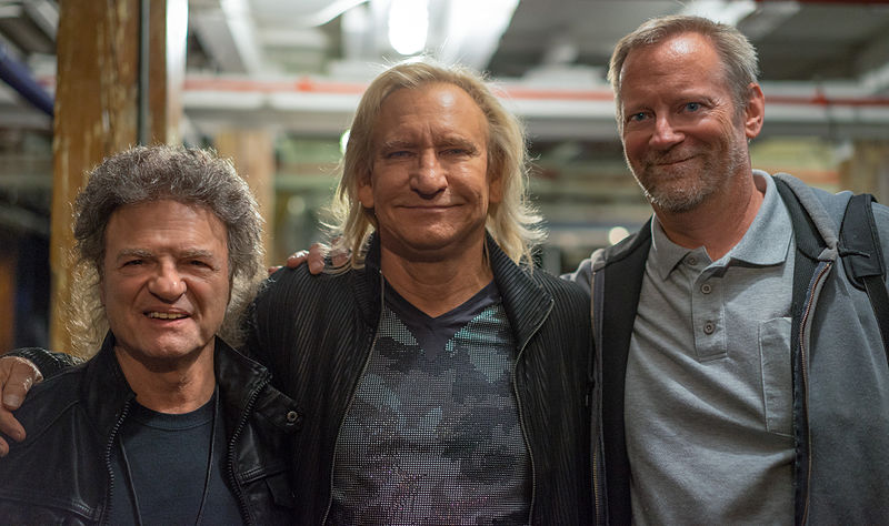 Joe Vitale, Joe Walsh and Ted Jensen at the Capitol Theatre 2015.jpg