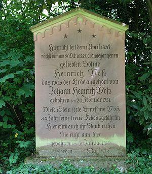 Johann Heinrich Voss - Voss' grave in Heidelberg