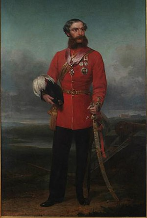 32nd (Cornwall) Regiment of Foot - Sir John Inglis of the 32nd Regiment by William Gush, Province House (Nova Scotia)