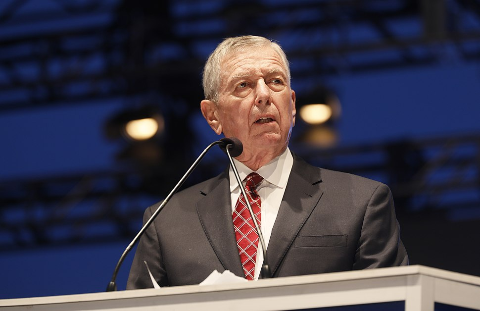 John Ashcroft delivers remarks at the 30th Annual Candlelight Vigil to honor fallen officers