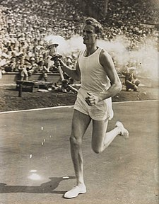 John Mark Olympic Torch Bearer, London, 1948.jpg