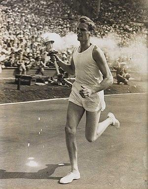 John Mark (athlete) - John Mark Olympic Torch Bearer, London, 1948