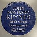 John Maynard Keynes 46 Gordon Square blue plaque.jpg