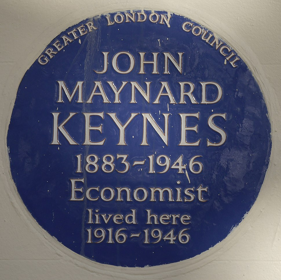 John Maynard Keynes 46 Gordon Square blue plaque