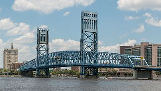 Main Street Bridge (Jacksonville) - Viewed from the south bank