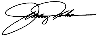 Johnny Isakson - Image: Johnny Isakson Signature