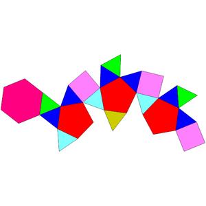 Triangular hebesphenorotunda - Image: Johnson solid 92 net