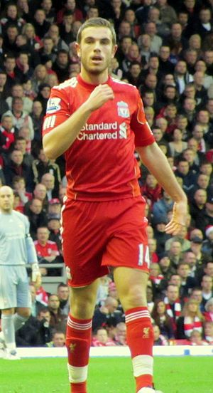 Jordan Henderson - Henderson playing for Liverpool in 2012