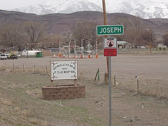 Joseph, Utah - Joseph welcome sign, April 2010