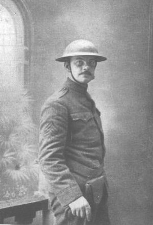 Joyce Kilmer - Sgt. Joyce Kilmer, as a member of the Fighting 69th Infantry Regiment, United States Army, c. 1918