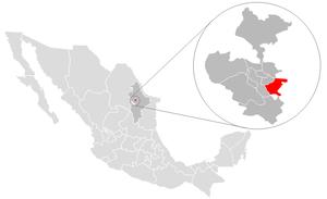 Juárez, Nuevo León - Image: Juarez location