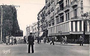 Avenue Habib Bourguiba - Avenue Jules-Ferry (1954)