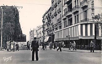 Avenue Habib Bourguiba - Avenue Jules-Ferry (1954)
