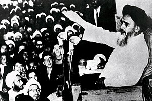June 5, 1963, demonstrations in Iran - Khomeini speaking in Qom and criticizing Shah's government