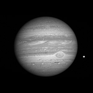 Excellent hi-res BW image of Jupiter of New Horizons flyby