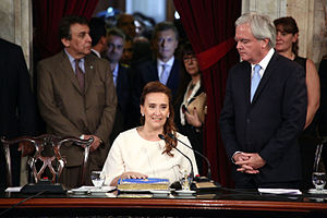 Gabriela Michetti - Michetti taking office as Vice President of Argentina in the Argentine National Congress, December 2015.