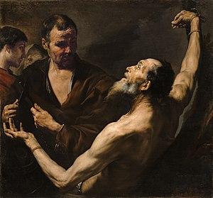 Bartholomew the Apostle - The Martyrdom of Saint Bartholomew by Jusepe de Ribera (1634)