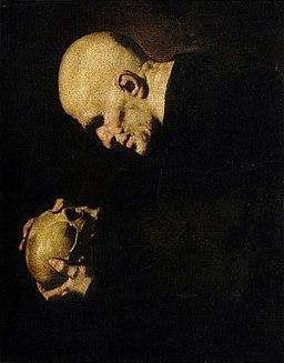 Jusepe de Ribera - Man with a Skull