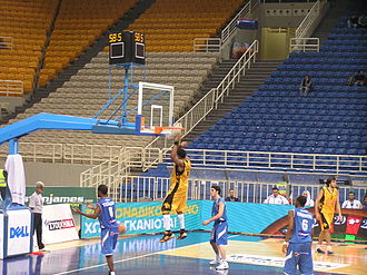 K'zell Wesson - Wesson dunking the ball while a member of AEK.