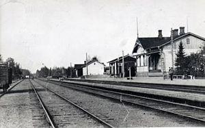 Battle of Kämärä - Kämärä railway station in the 1920s