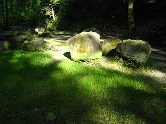 Küsnachter Tobel - some of the smaller glacial erratics