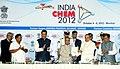 K. Sankaranarayanan presenting the 1st copy of the INDIA CHEM-2012 to the President, Shri Pranab Mukherjee, at the inauguration of the 7th Edition of India CHEM 2012.jpg