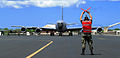 KC-135R marshalled at Hickam AFB 2006.jpg