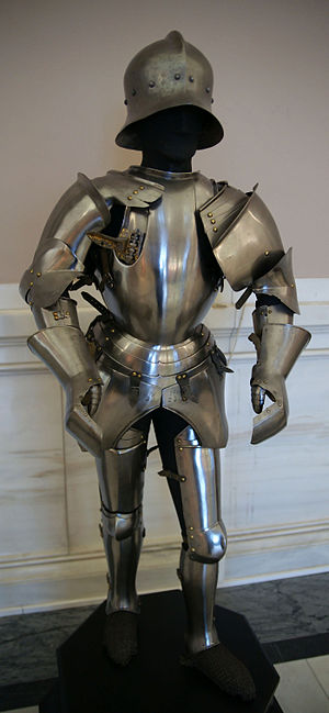 Battle of Calliano (1487) - The armour worn by Roberto Sanseverino and looted by the Tyroleans, now kept in the arms and armour collection of Kunsthistorisches Museum, Vienna.