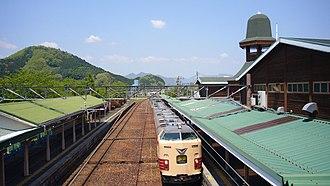 Kaibara Station - Limited Express Kitakinki, May 2006
