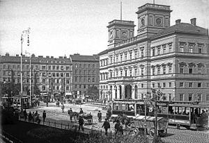 Wien Franz-Josefs-Bahnhof - Kaiser-Franz-Josefs-Bahnhof about 1905