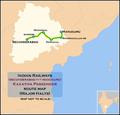 Kakatiya Passenger (Secunderabad - Manuguru) route map.png