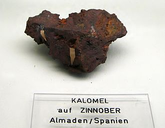 Geology of the Iberian Peninsula - Cinnabar (mercury ore) from Almadén, Spain